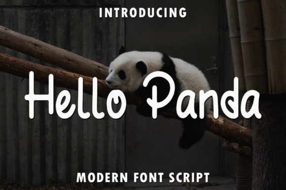 Print on Demand: Hello Panda Manuscrita Fuente Por rangkaiaksara