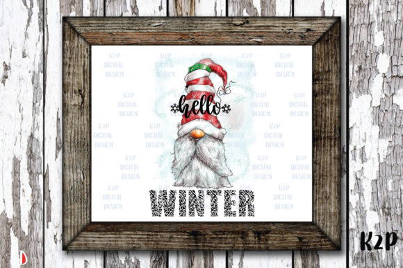 Print on Demand: Hello Winter Merry Christmas Gnome Graphic Illustrations By KtwoP