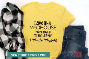 I Live in a Madhouse SVG Graphic Illustrations By svgs101