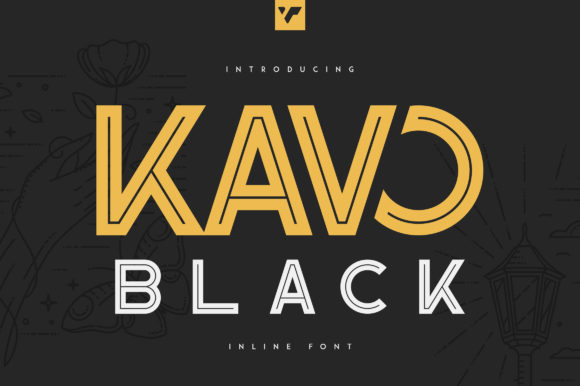Print on Demand: Kavo Black Sans Serif Font By vladfedotovv