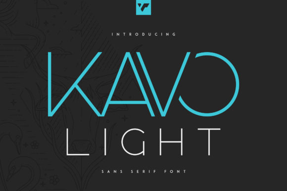 Print on Demand: Kavo Sans Serif Font By vladfedotovv