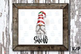Print on Demand: Let It Snow, Merry Christmas, Gnome Graphic Illustrations By KtwoP