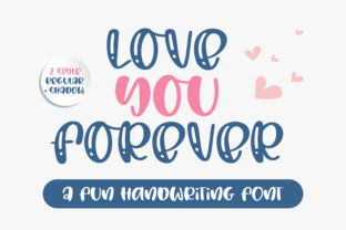 Print on Demand: Love You Forever Script & Handwritten Font By BitongType 1
