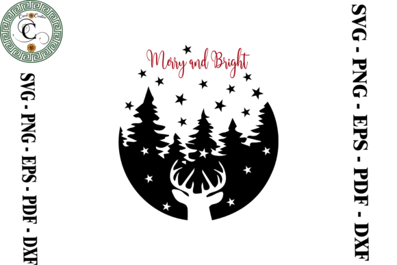 Print on Demand: Merry Christmas - Merry and Bright Svg Graphic Print Templates By Cricut Creation
