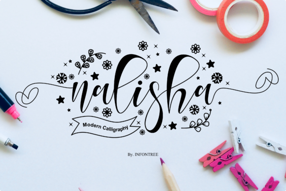Print on Demand: Nalisha Script & Handwritten Font By Infontree