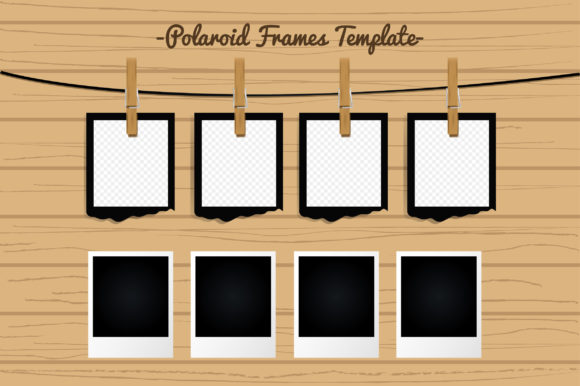Polaroid Photo Frames Template Graphic Backgrounds By Aradevi