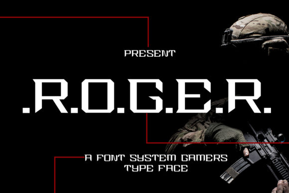 Print on Demand: Roger Display Font By edwar.sp111