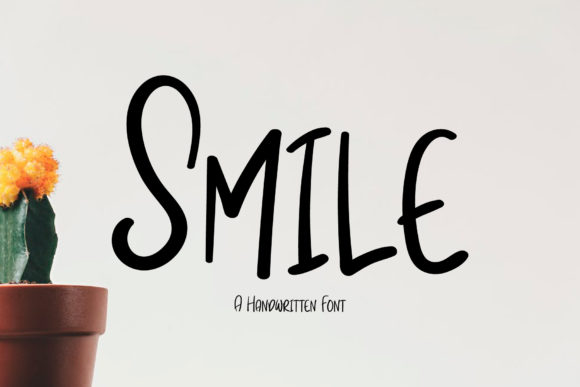 Print on Demand: Smile Script & Handwritten Font By Wanida Toffy