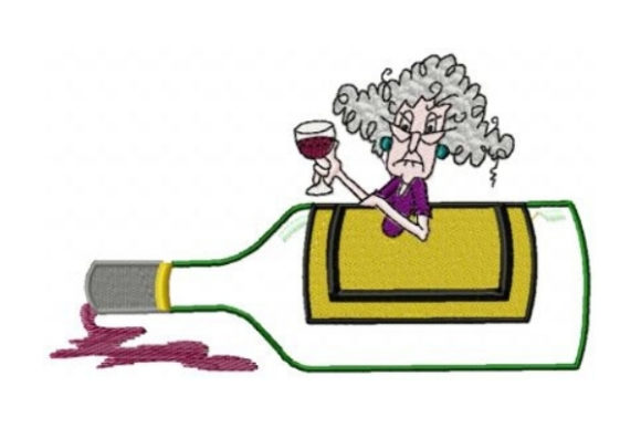 Stella Wine Wine & Drinks Embroidery Design By Sew Terific Designs