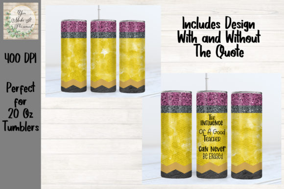 Print on Demand: Sublimation Pencil Tumbler Graphic Print Templates By You Make It Personal
