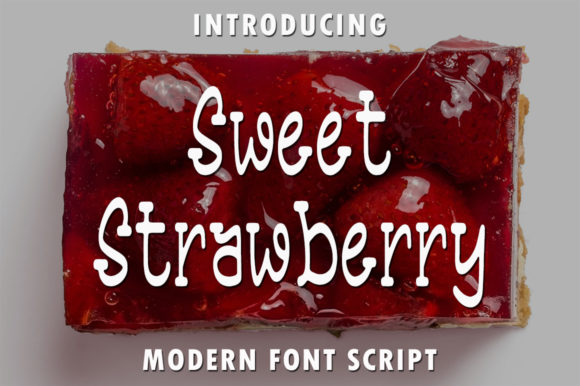 Print on Demand: Sweet Strawberry Script & Handwritten Font By rangkaiaksara