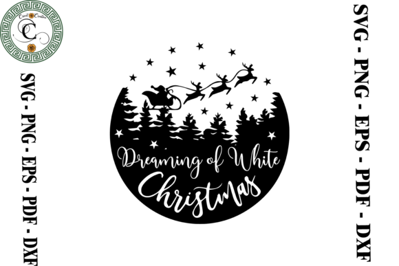 Print on Demand: White Christmas Gift Svg Graphic Print Templates By Cricut Creation