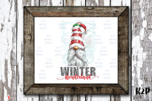 Print on Demand: Winter Wonderland Gnome Sublimation Graphic Illustrations By KtwoP