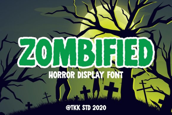 Print on Demand: Zombified Display Font By tokokoo.studio