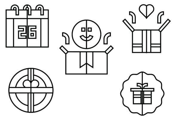 Boxing Day Black Graphic Icons By ssiimpti73