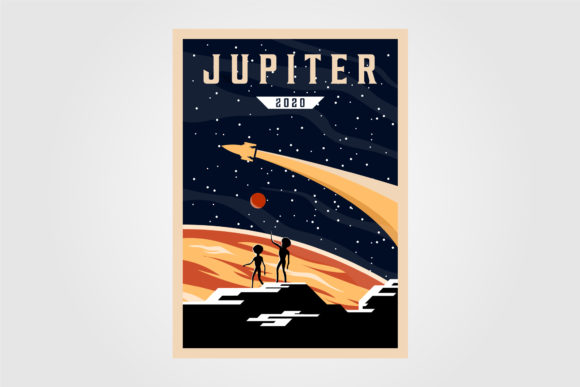Jupiter Poster Background Vector Design Graphic Graphic Templates By lawoel