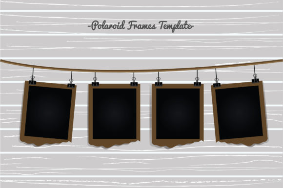Polaroid Frames Template Graphic Backgrounds By Aradevi
