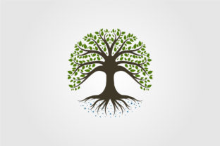 Tree Logo Vintage Nature Symbol Vector Graphic Objects By lawoel