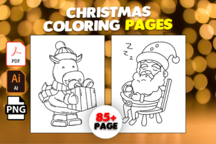 Print on Demand: 85+ Christmas Coloring Pages for Kids Graphic Coloring Pages & Books Kids By MK DESIGN
