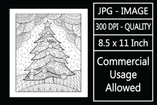 Print on Demand: Adult Coloring Page 121 - Christmas Graphic KDP Interiors By design-world
