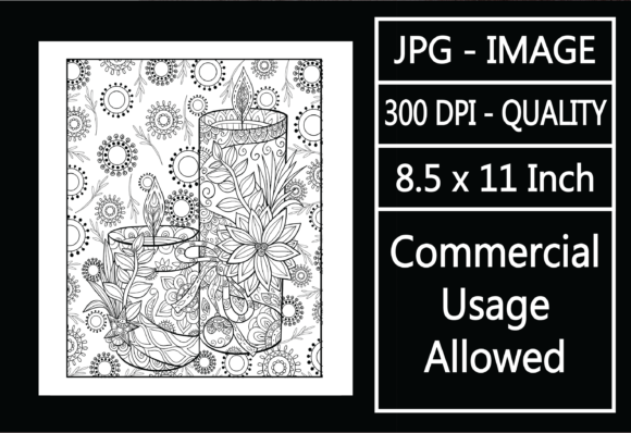 Print on Demand: Adult Coloring Page 123 - Christmas Graphic KDP Interiors By design-world