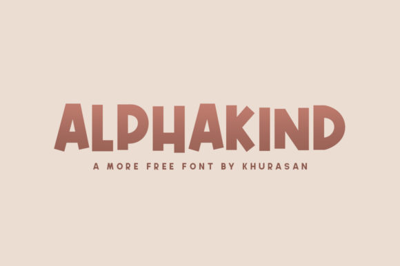 Print on Demand: Alphakind Display Font By Khurasan
