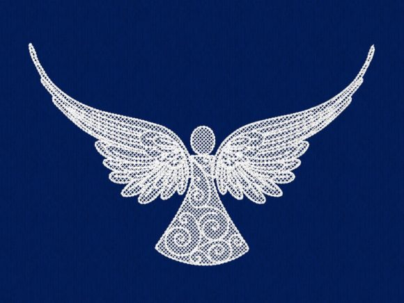 Angel Christmas Embroidery Design By DNE embroidery