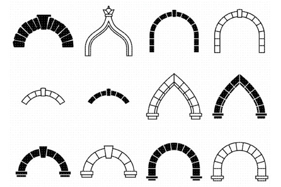 Print on Demand: Architectural Arches and Doorways Graphic Crafts By CrafterOks