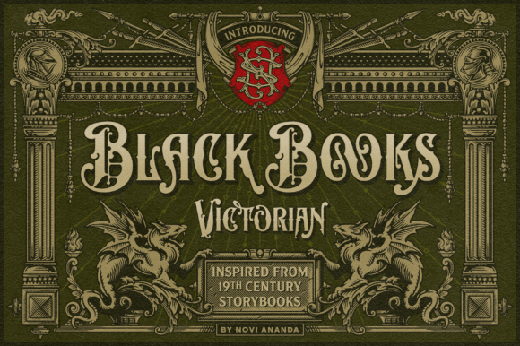 Print on Demand: Black Books Victorian Blackletter Font By NoviSouldado