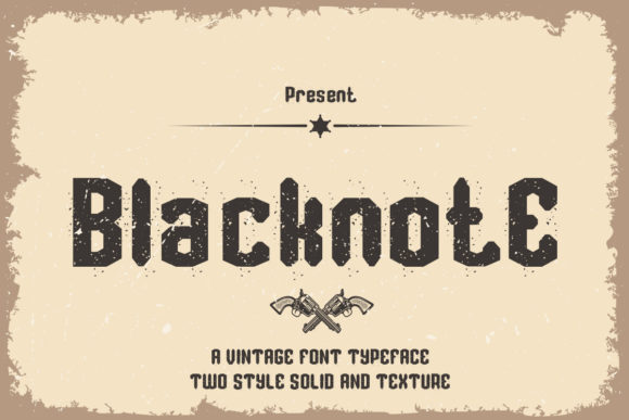 Print on Demand: Blacknote Display Font By edwar.sp111