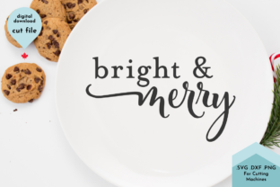 Print on Demand: Bright and Merry Modern Svg Christmas Graphic Crafts By Lettershapes