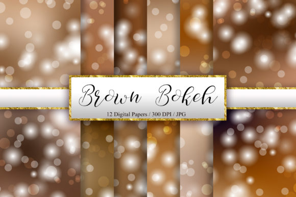 Brown Bokeh Background Digital Papers Graphic Backgrounds By PinkPearly
