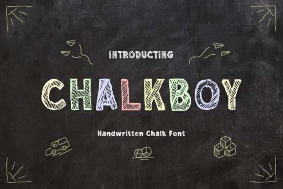 Print on Demand: Chalkboy Display Font By TypeFactory