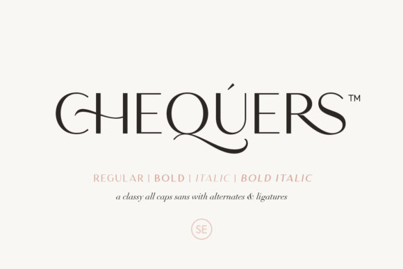 Print on Demand: Chequers Sans Serif Font By saridezra
