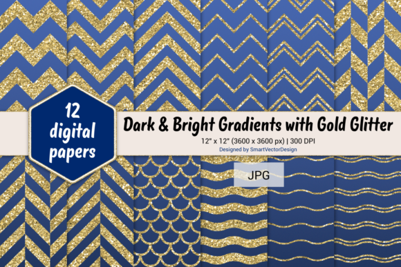 Print on Demand: Chevron, Scales, & Waves - Gradients #30 Graphic Backgrounds By SmartVectorDesign