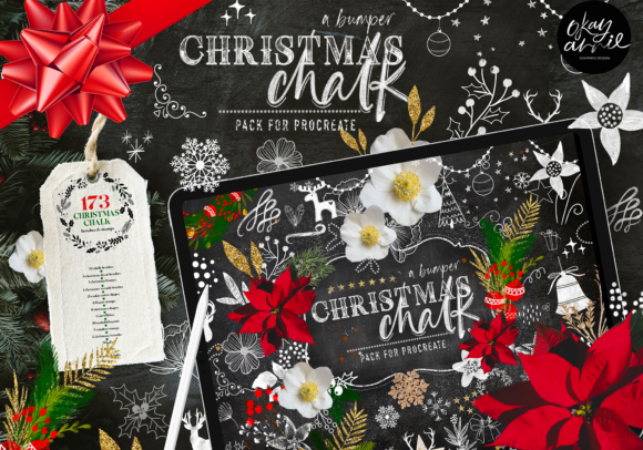 Christmas Chalk Procreate Brushes Graphic Brushes By OkayAnnie Designs