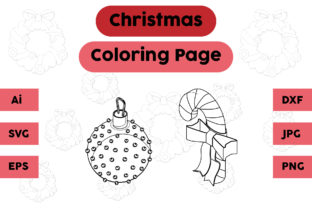 Christmas Coloring Page Candy Set Graphic Coloring Pages & Books Kids By isalsemarang