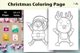 Print on Demand: Christmas Coloring Page for Kids-KDP Graphic Coloring Pages & Books Kids By Sei Ripan