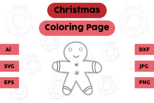 Christmas Coloring Page - Ginger 03 Graphic Coloring Pages & Books Kids By isalsemarang