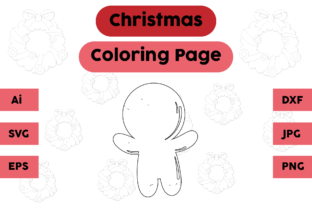 Christmas Coloring Page - Ginger 04 Graphic Coloring Pages & Books Kids By isalsemarang