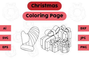 Christmas Coloring Page Gloves Gift Set Graphic Coloring Pages & Books Kids By isalsemarang
