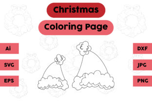 Christmas Coloring Page - Hat 13 Graphic Coloring Pages & Books Kids By isalsemarang