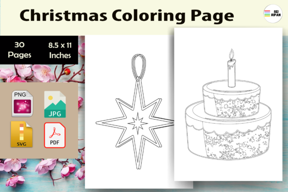 Print on Demand: Christmas Coloring Page Kids 3-KDP Graphic Coloring Pages & Books Kids By Sei Ripan