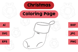 Christmas Coloring Page - Socks 13 Graphic Coloring Pages & Books Kids By isalsemarang