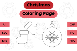Christmas Coloring Pages Gloves Sock Set Graphic Coloring Pages & Books Kids By isalsemarang