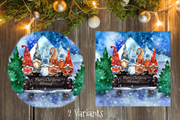 Christmas Gnomes Truck Graphic Download