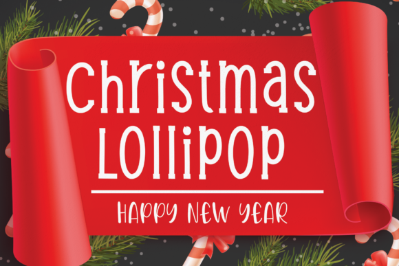 Print on Demand: Christmas Lollipop Serif Font By Micro77 type
