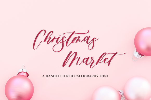 Print on Demand: Christmas Market Script & Handwritten Font By BeckMcCormick