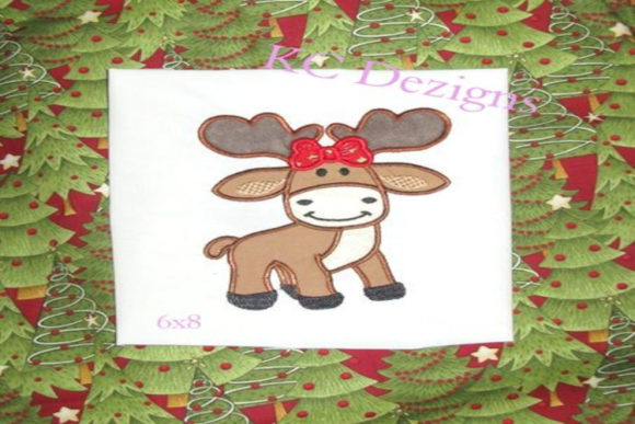 Christmas Moose 03 Christmas Embroidery Design By karen50