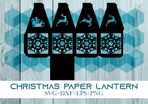 Print on Demand: Christmas Paper Lantern Series 141 Graphic 3D SVG By Cerescrafts